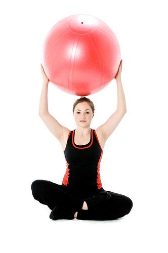 Фитбол йога
