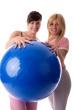 Упражнения с фитболом 1