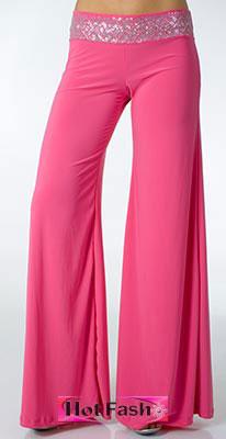 брюки широкие с поясом