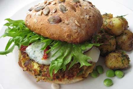 зеленый гамбургер