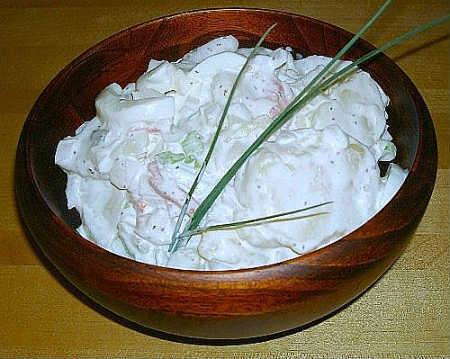 салат из яичных белков