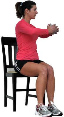 вращение тела сидя