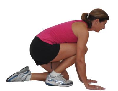 стретчинг колена и голени