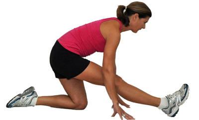 стретчинг на колене