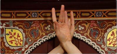 цветок лотоса движение руками